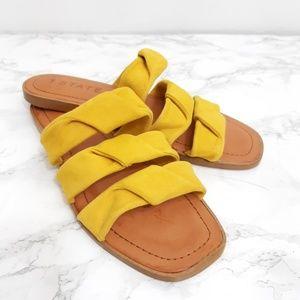 1. STATE Mustard yellow slip on sandal 8.5